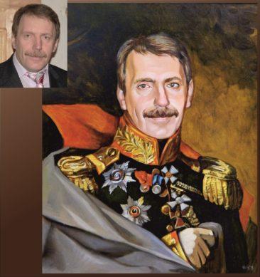 Настоящий портрет маслом на заказ в Мурманске…