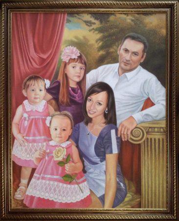 Семейный портрет маслом в Мурманске — правильная традиция…