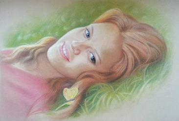 Настоящий портрет пастелью для любимой девушки в Мурманске, просто и со вкусом!