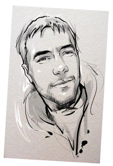 Портрет карандашом любимому мужу в Мурманске…