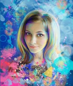 поп арт портрет в стиле гранж