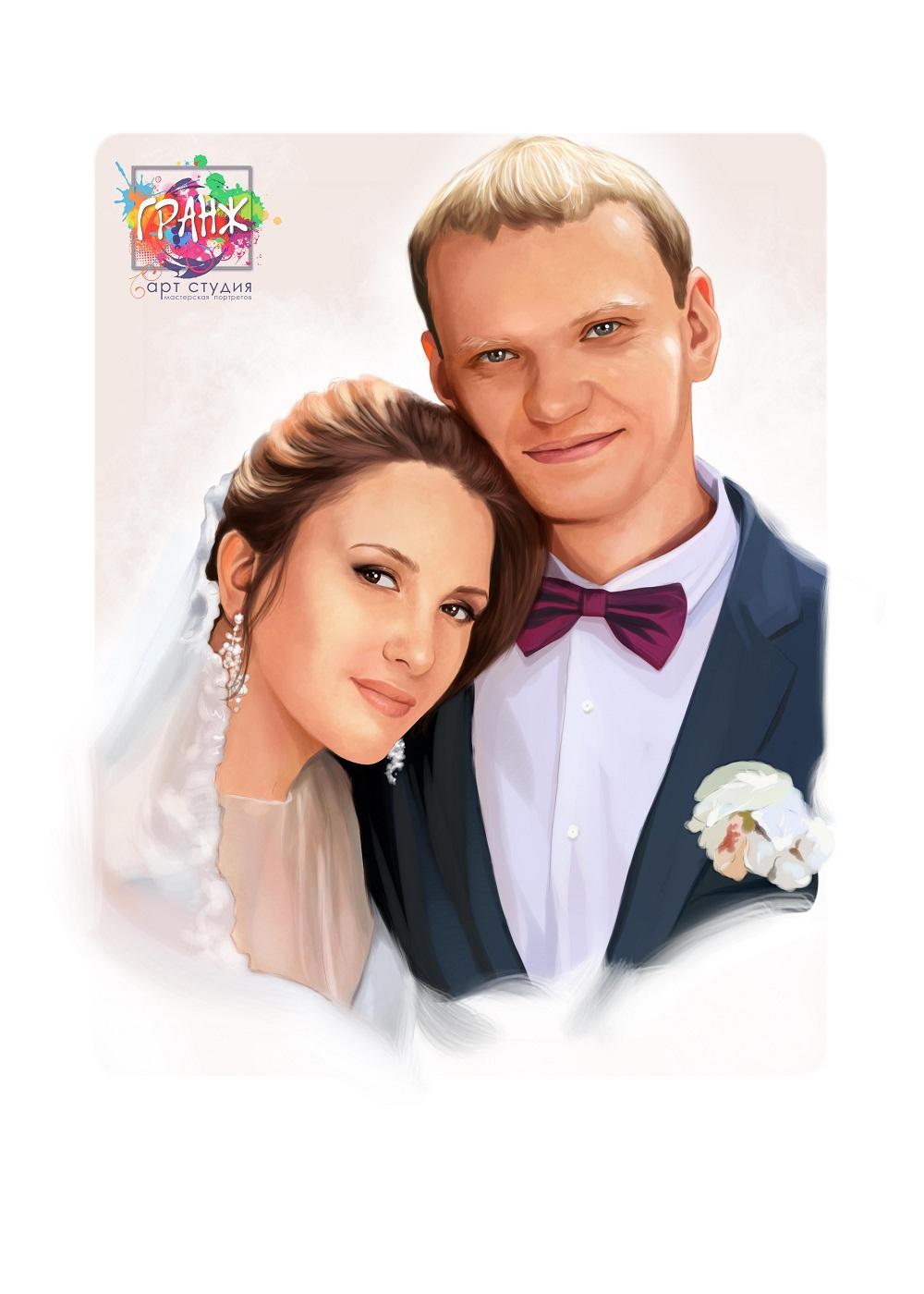 свадебный портрет по фото