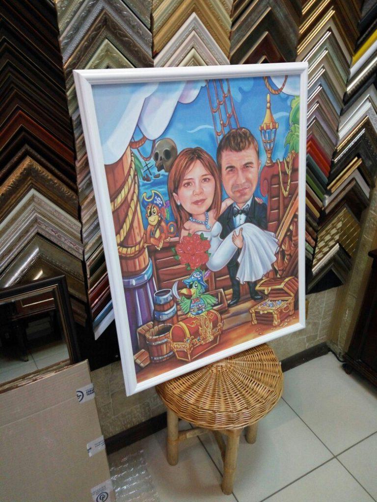 портрет шарж на заказ в Мурманске