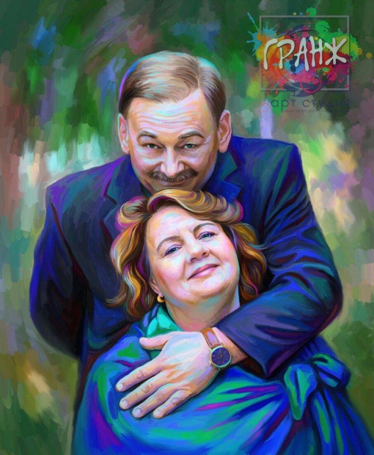 Портрет по фото на холсте в Мурманске