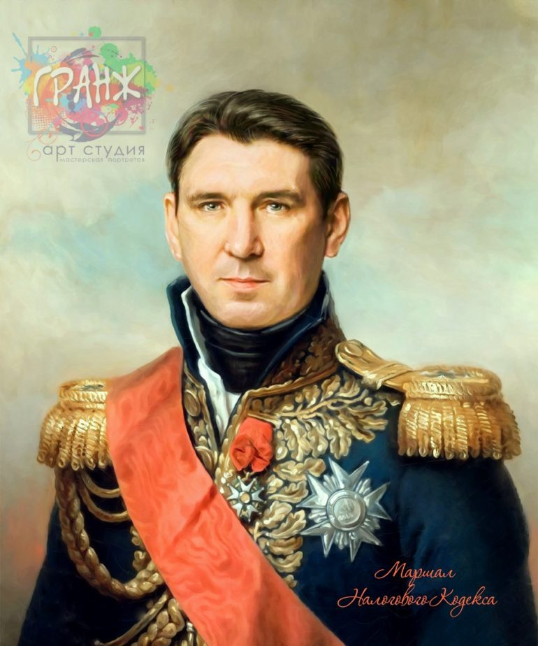 Портрет по фото на холсте в подарок мужчине на 23 февраля Мурманск
