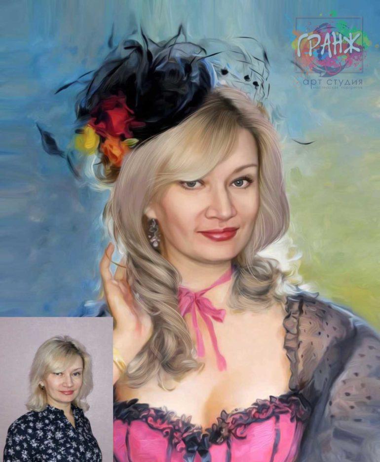 Заказать арт портрет по фото на холсте в Мурманске