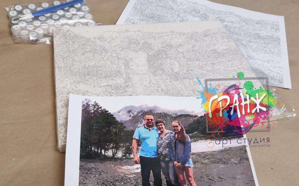 картин по номерам на холсте по фото в Мурманске