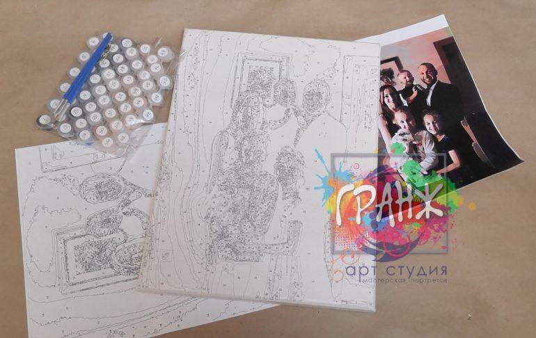 Картина по номерам по фото, портреты на холсте и дереве в Мурманске